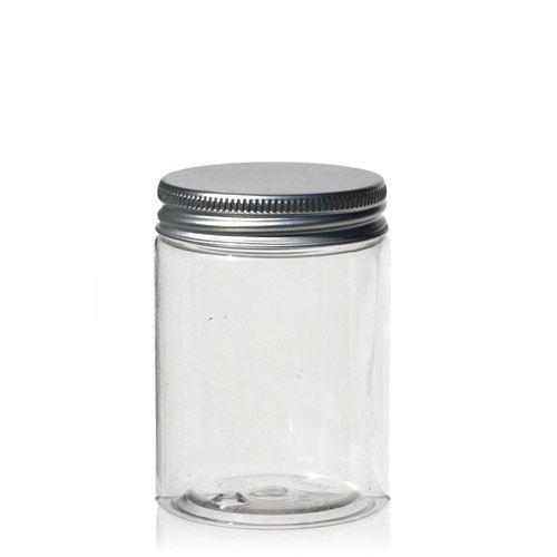 "100ml pot PET ""Bella Mia Mini"" - bouchon fileté aluminium"