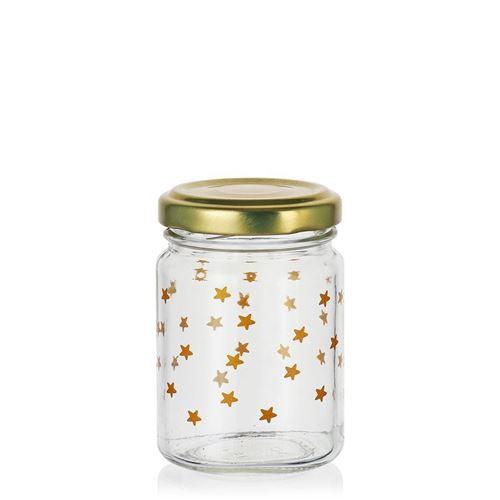 """106ml Weihnachtsglas """"Sternenhimmel"""" gold"""