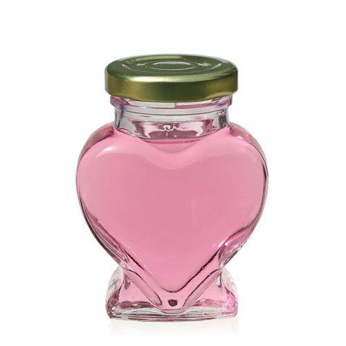 106ml hjerteformet glas, med Twist Off 43