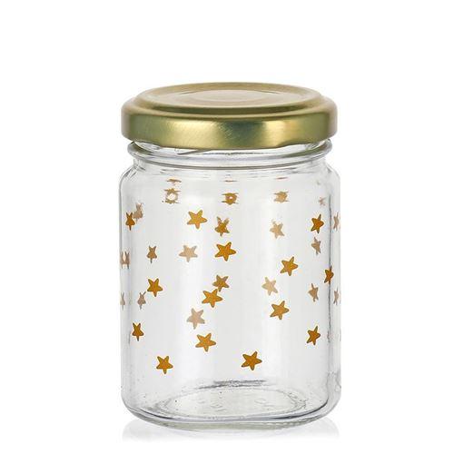 """106ml juleglas """"stjernehimmel"""" gyldent"""