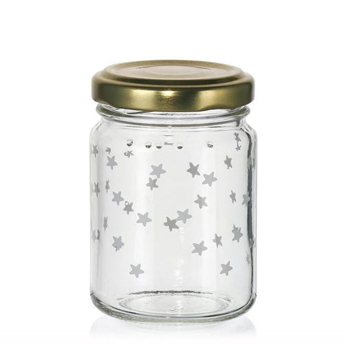 "106ml kerstpot ""Sterrenhemel"" wit"