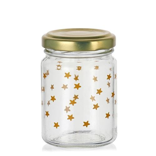 """106ml tarro de Navidad """"cielo estrellado"""" oro"""