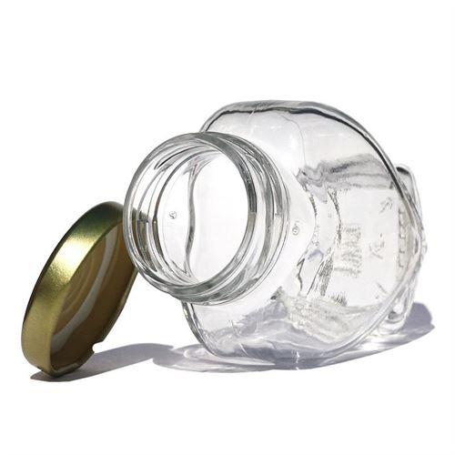 106ml vasetto in vetro a forma di Cuore con tappo a vite Twist Off 43