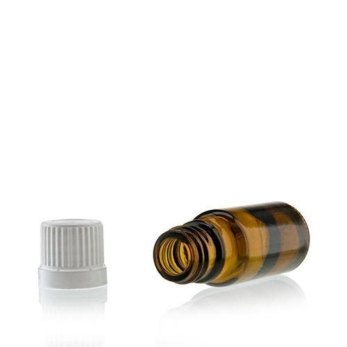 10ml braune Medizinflasche mit 18mm-Originalitätsverschl.