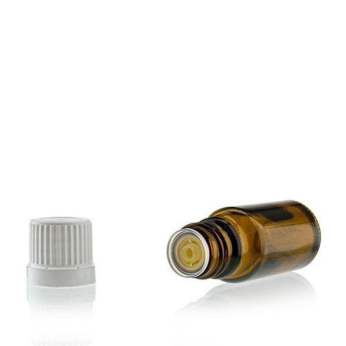 10ml bottiglia medica marrone con contagocce.