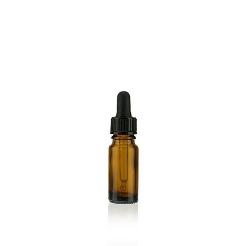 10ml bottiglia in vetro per medicina marrone con nero pipetta