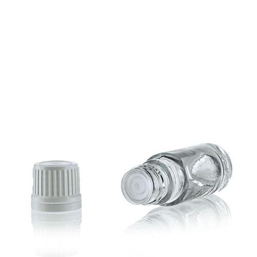 10ml transparent medicinflaske, med dråbetæller