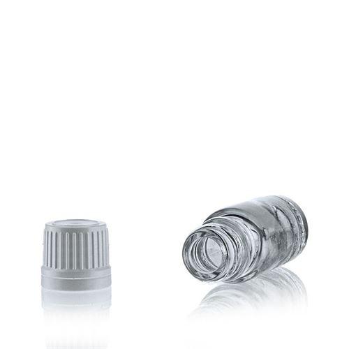 10ml transparent medicinflaske, med originality-lock