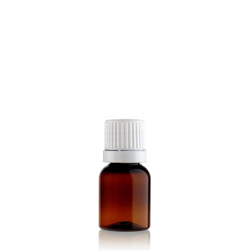 "10ml PET-flaske, brun ""Easy Living"" med originality-lock"
