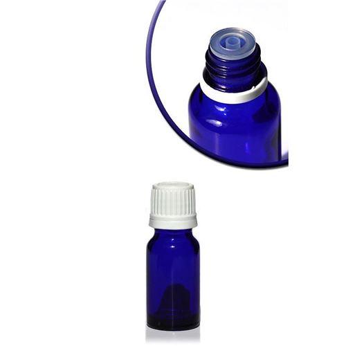 10ml blå medicinflaske, med dråbetæller