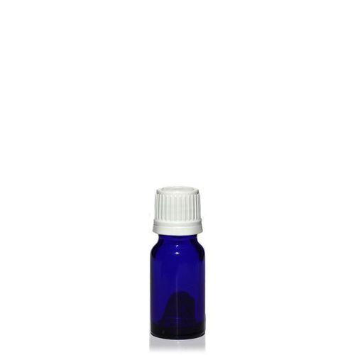 10ml blaue Medizinflasche mit 18mm-Originalitätsverschl.