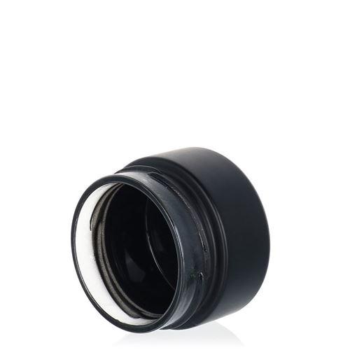"""119ml schwarzes Designerglas """"Aurora"""" weiß"""