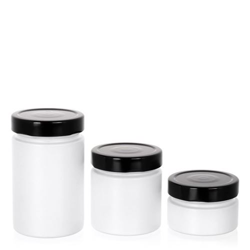 """119ml weißes Designerglas """"Aurora"""" schwarz"""