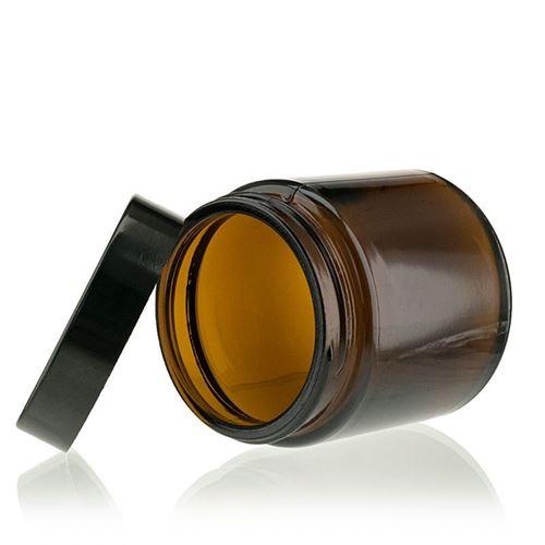 """120ml bruine glazen doos """"Brown Line"""""""