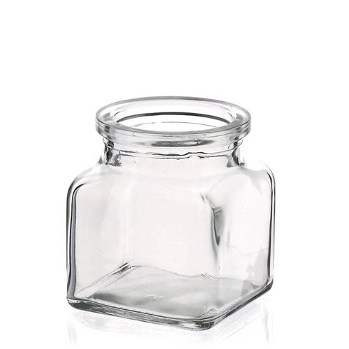 120ml rektangulært glas, med spidsprop