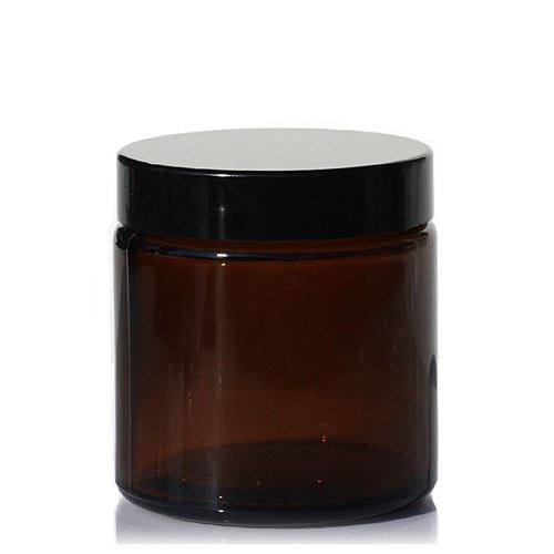 "120ml brown glass jar ""Brown Line"""