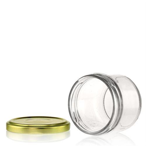 120ml vasetto in vetro rotondo con tappo a vite Twist Off 66