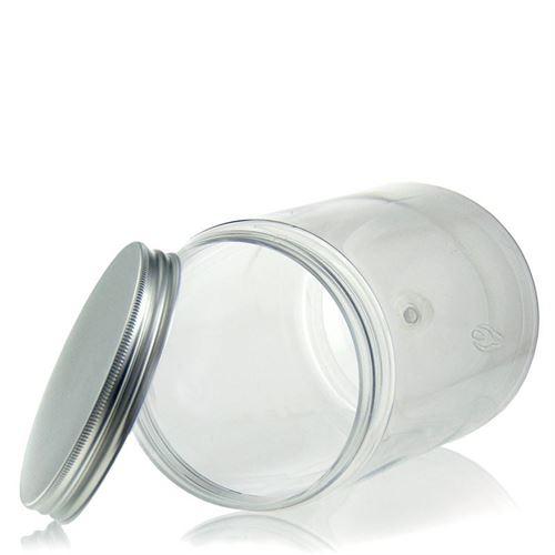 """1250ml słoik PET """"Canada"""", aluminium"""