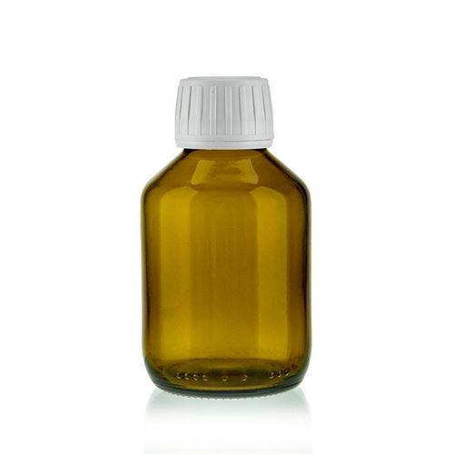 125ml bottiglia medica marrone con chiusura originale di 28mm