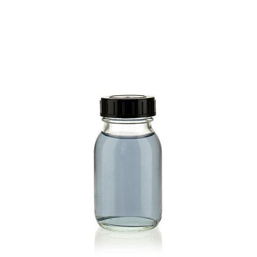 125ml transparent glas, med bred hals