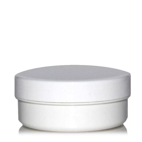 """125ml boîte avec couvercle à vis """"White Line"""""""