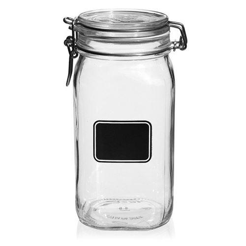 "1500ml beugelsluitiing glas ""Rocco"" met etiketveld"