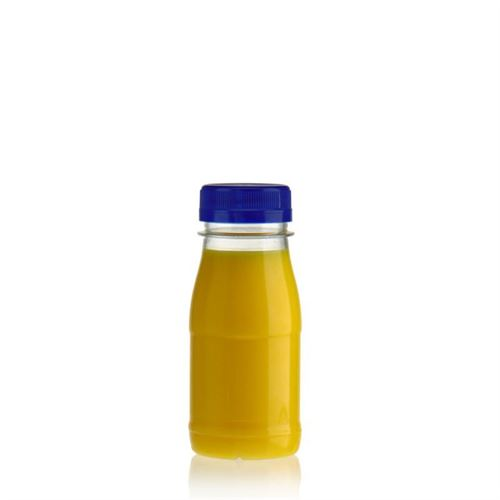 "150ml Botella PET con gollete ancho ""Milk and Juice"" azul"
