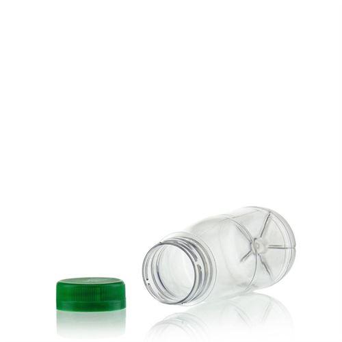"150ml Botella PET con gollete ancho ""Milk and Juice"" verde"