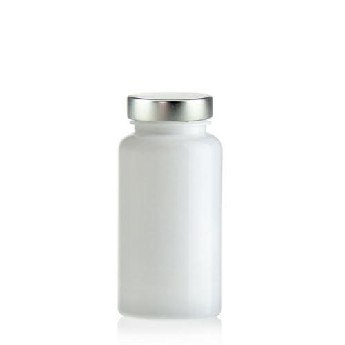 150ml PET-packer med aluminiumslåg, hvid