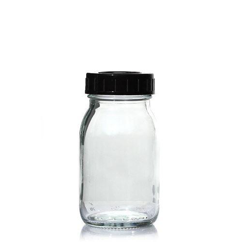 150ml glazen pot clear met wijde hals