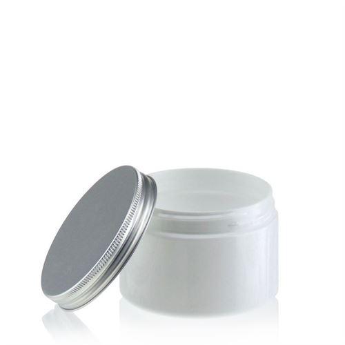 """150ml hvid PET-dåse """"Bella Mia"""" aluminium"""