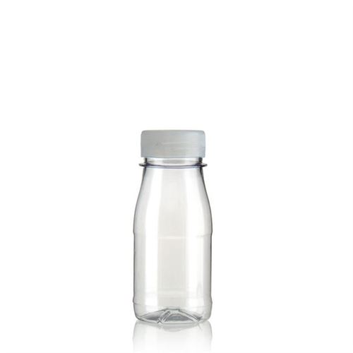 "150ml PET brede hals fles ""Milk and Juice"" wit"