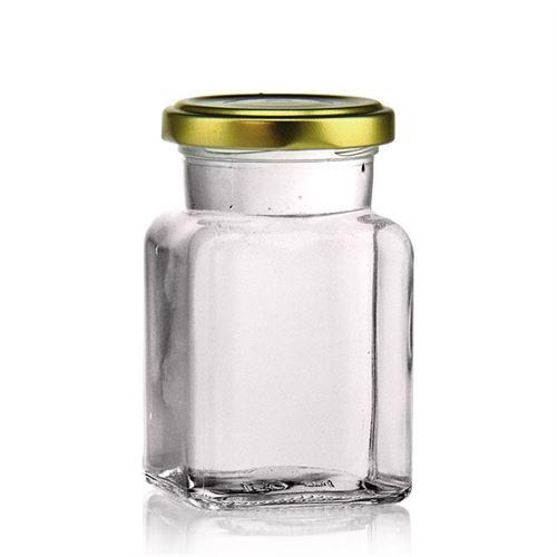 150ml rectanlage jar with Twist Off 53