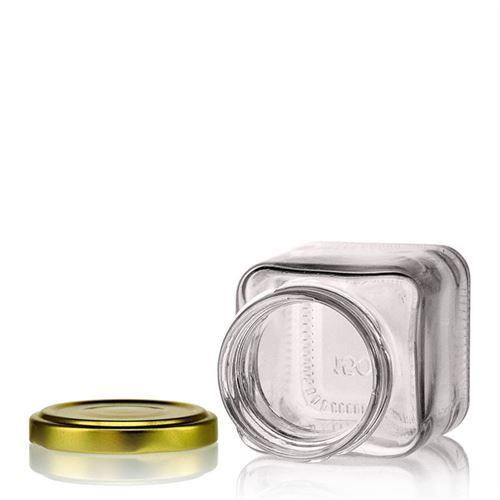 150ml vasetto in vetro rettangolare con tappo a vite Twist Off 53