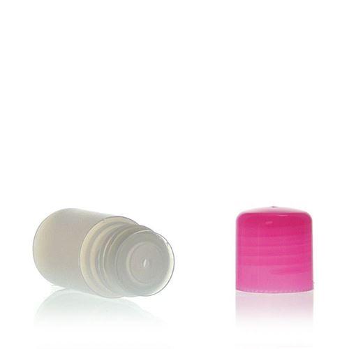 """15ml HDPE-Flasche """"Tuffy"""" natur/pink mit Spritzeinsatz"""