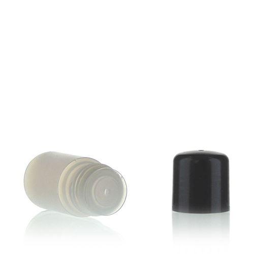 """15ml HDPE-Flasche """"Tuffy"""" natur/schwarz mit Spritzeinsatz"""