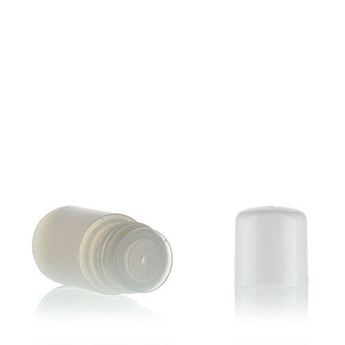 """15ml HDPE-Flasche """"Tuffy"""" natur/weiß mit Spritzeinsatz"""