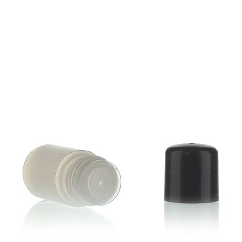 "15ml HDPE bottle ""Tuffy"" natural/black with dispensing tip"