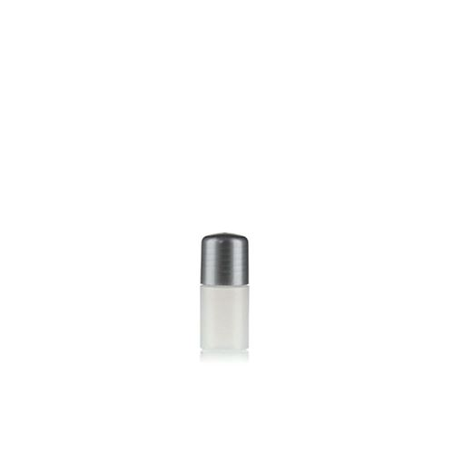 "15ml HDPE bottle ""Tuffy"" natural/silver with dispensing tip"