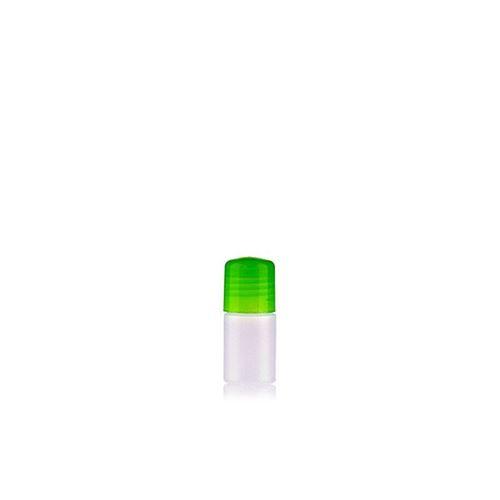 """15ml HDPE-flaske """"Tuffy"""" natur/grøn med sprøjteindsats"""