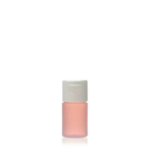 """15ml HDPE-fles """"Tuffy"""" natuur/wit met scharnier dop"""