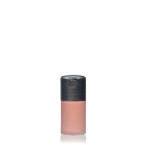 """15ml HDPE-fles """"Tuffy"""" natuur/zilver met scharnier dop"""
