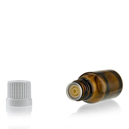 15ml bottiglia medica marrone con contagocce a caduta.