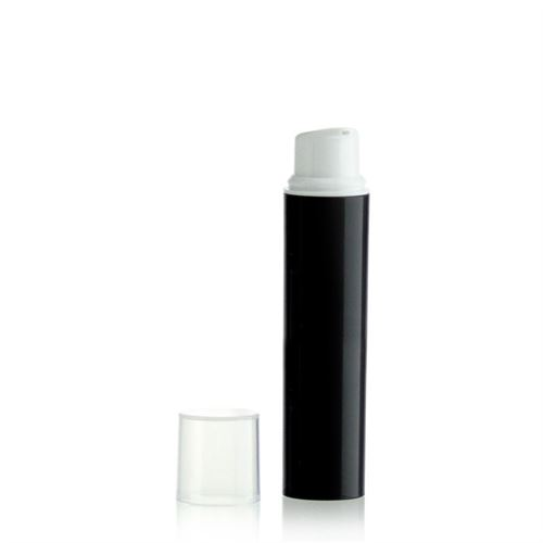 15ml ml airless pump NANO black/white