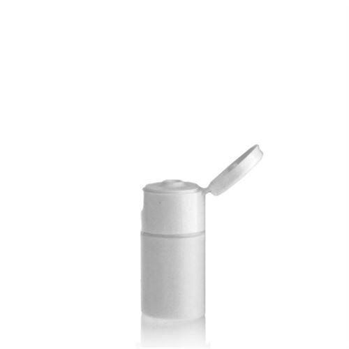 """15ml HDPE-Flasche """"Tuffy"""" weiß mit Klappscharnier"""