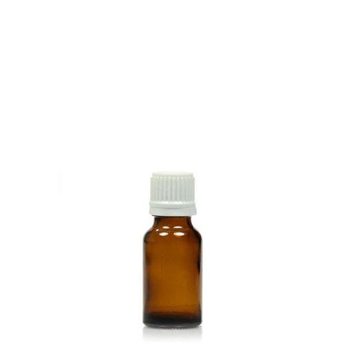 15ml braune Medizinflasche mit 18mm-Originalitätsverschl.