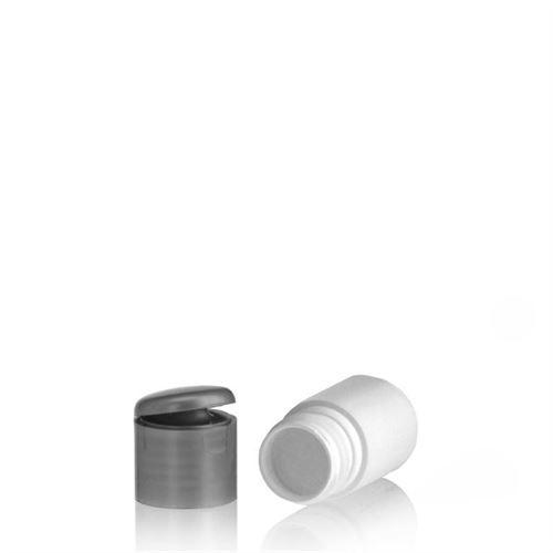 """15ml bottiglia HDPE """"Tuffy"""" argento con tappo Flip top"""