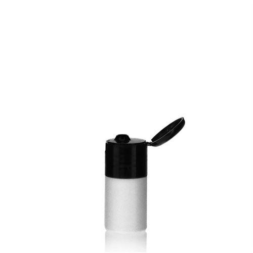 """15ml bottiglia HDPE """"Tuffy"""" nero con tappo Flip top"""