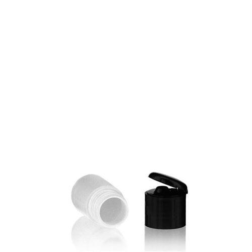 """15ml bouteille HDPE """"Tuffy"""" noir avec couvercle à clapet"""