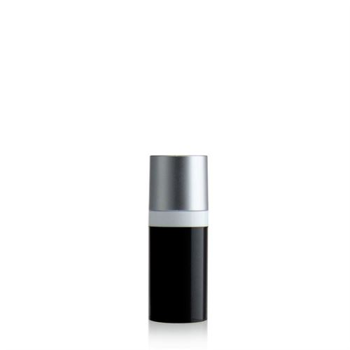 15ml Airless Dispenser MICRO black/silver cap